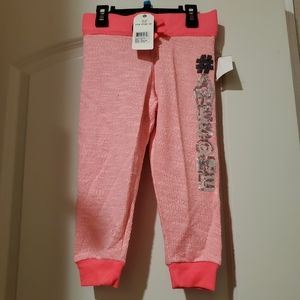 One Step Up Pink Sequin Sweatpant Jogger